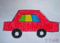 幼儿园小汽车简笔画怎么画涂色简单可爱