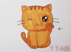 一步一步画小猫咪简笔画教程涂色简单可爱