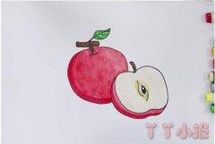 教你怎么画红苹果简笔画步骤教程涂颜色