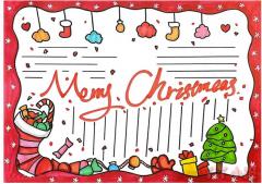 圣诞节英语手抄报模板怎么画简单又漂亮