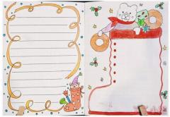 小学生圣诞节手抄报模板图片简单又漂亮