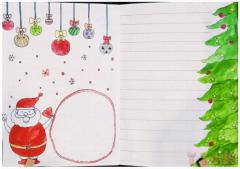 二年级圣诞节手抄报模板怎么画简单又漂亮