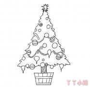 圣诞树怎么画带步骤教程 圣诞树简笔画图片