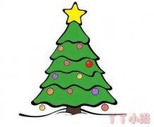 简单漂亮圣诞树怎么画涂色 圣诞树简笔画图片