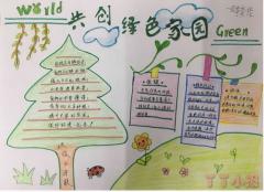 关于共创绿色家园手抄报简笔画怎么画简单又漂亮
