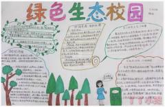 二年级创建生态校园手抄报内容及图片一等奖