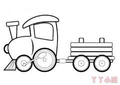 怎么画卡通小火车简笔画教程简单可爱