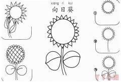 向日葵怎么画简笔画步骤教程简单又漂亮