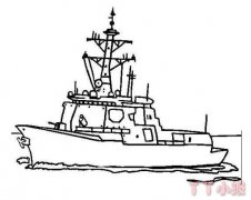 导弹驱逐舰怎么画简笔画教程简单漂亮