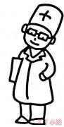 医生和护士简笔画怎么画简单又好看