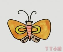 怎么画蚕蛾简笔画教程简单又漂亮涂色