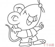 卡通小老鼠简笔画怎么画简单又可爱教程