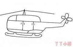 简单直升飞机简笔画图片飞机的画法教程