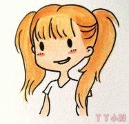 卡通小女孩简笔画图片小女孩的画法教程