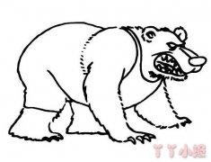 大狗熊简笔画图片 手绘狗熊的画法步骤图