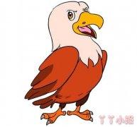 卡通老鹰怎么画涂色漂亮 老鹰简笔画图片