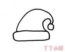 简单圣诞帽简笔画图片 圣诞帽的画法教程