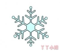 冬天雪花怎么画简单又漂亮 小雪花简笔画图片