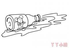 瓶子里的小老鼠简笔画怎么画简单又好看