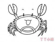 简笔画卡通螃蟹怎么画简单又好看