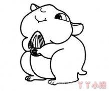可爱小仓鼠简笔画怎么画简单又好看