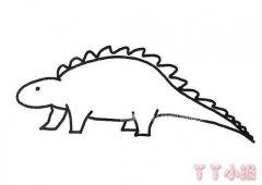 怎么画卡通恐龙简笔画教程简单又漂亮