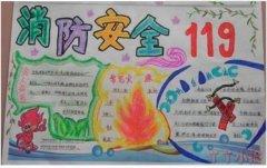 消防安全119手抄报内容及图片简单又漂亮模板设计图