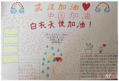 武汉加油白衣天使手抄报怎么画简单又漂亮一年级
