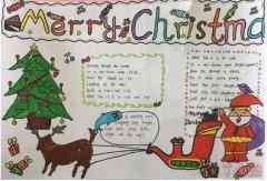 圣诞快乐手抄报内容与图片初中生一等奖设计图