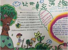 让世界充满绿手抄报怎么画简单又漂亮小学生设计图