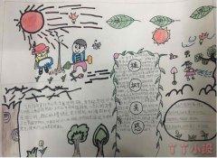 植树节手抄报怎么画简单又好看一等奖五年级小学生手抄报